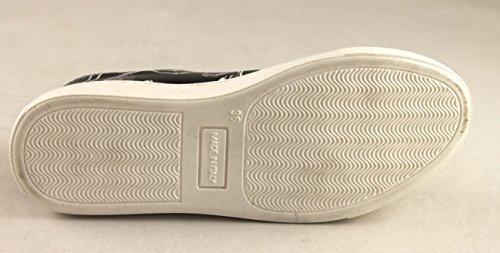 A&M Schuhe Damenschuhe Shoe Sneaker Leder Made in Italy 1350 Grau-Weiß Grau-Weiß