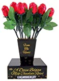 Valentine's Day From the Heart 1 Dozen Belgian Milk Chocolate Roses Deal (Small Image)