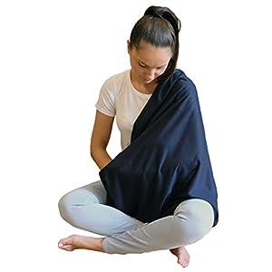 2pk LK Baby Infinity Nursing Scarf Breastfeeding Cover Ultra Soft (Grey/Navy)