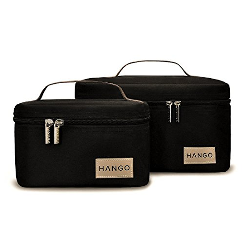 Hango Adult Lunch Box Insulated Lunch Bag Large Cooler Tote Bag (Set of 2 Sizes) For Men and Women, Black by Attican (Image #4)