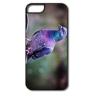 IPhone 5/5S Cover, Pigeon White/black Case For IPhone 5 5S wangjiang maoyi