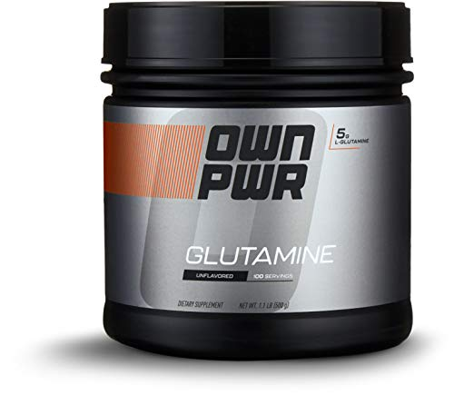 OWN PWR L-Glutamine Powder, Unflavored, 500g, 100 Servings