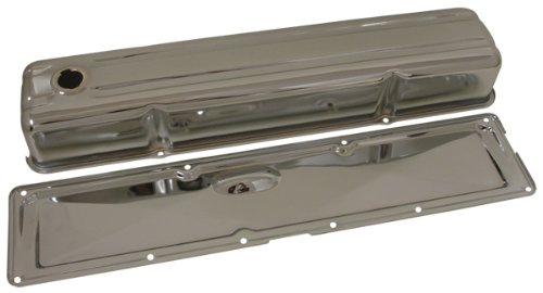 1950-62 Chevy 235 Straight/Inline 6 Cylinder Steel Valve Cover w/ Side Plate - Chrome ()
