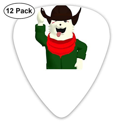 HOOAL Custom Guitar Picks, Dog Halloween Cowboy Hat Guitar Pick,Jewelry Gift For Guitar Lover,12 Pack