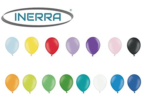 INERRA® Balloons Pack of 50 Mixed 25 x Yellow /& 25 x Sky Blue Latex 10/""