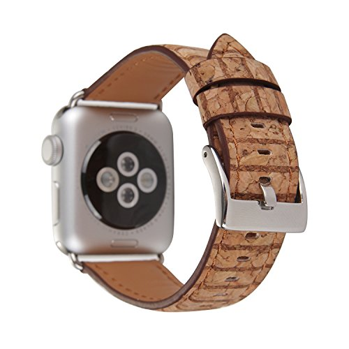HotGlows PU Leather Colorful Wood Grain iWatch Strap Replacement Wristband Bracelet Compatible with Apple Watch Series 3, 2, 1, Sport, Edition by HotGlows