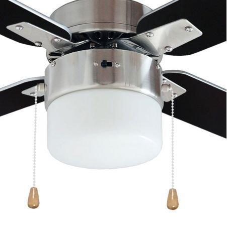 San antonio black brushed chrome effect ceiling fan light amazon san antonio black brushed chrome effect ceiling fan light amazon lighting mozeypictures Gallery