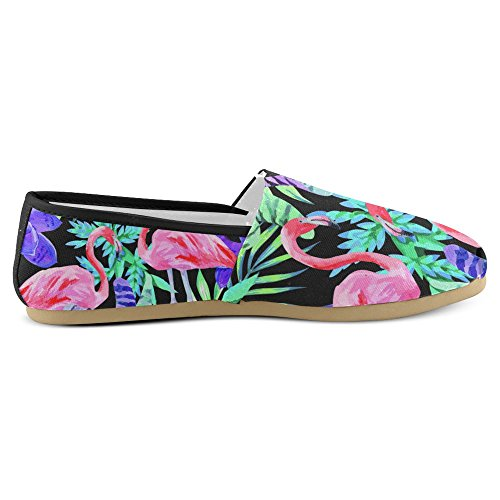 InterestPrint Womens Loafers Classic Casual Canvas Slip On Fashion Shoes Sneakers Mary Jane Flat Flamingos 1 sBAPlAA3E