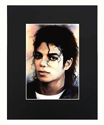 XQArtStudio Michael Jackson 8x10 Black Matted Art Artworks Print Paintings Printed Picture Photograph Poster Gift Wall Decor Display