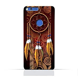 AMC Design Google Google Pixel XL TPU Silicone Protective Case with American Feathers Design