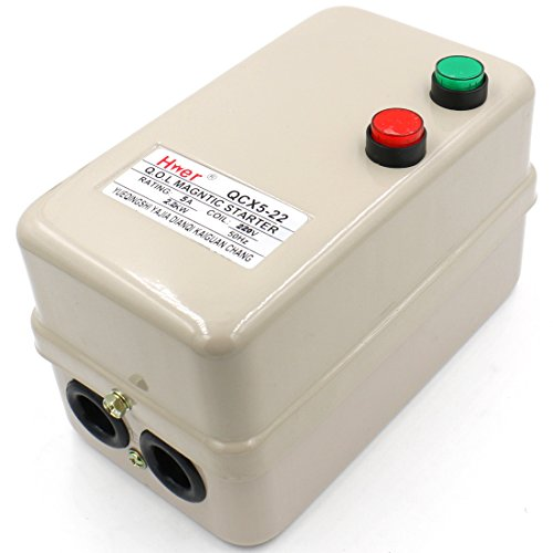 Baomain Magnetic Electric Motor Starter Control QCX5-22 AC 220V 3.2-5A 3HP 2.2KW 3 Phase