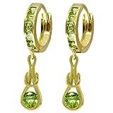 ALARRI 2.3 CTW 14K Solid Gold Love Knot Peridot Earrings