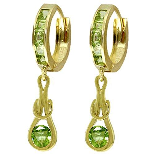 ALARRI 2.3 CTW 14K Solid Gold Love Knot Peridot Earrings by ALARRI (Image #1)