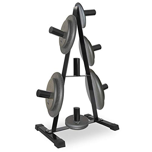 F2C Standard 2-Inch Olympic Weight Plate Rack Tree Holder Heavy Duty Solid Steel Construction