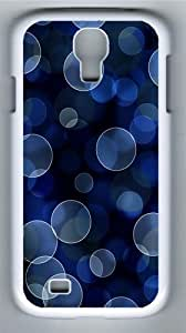 Patterns Bokeh Paints Blue Custom Samsung Galaxy I9500/Samsung Galaxy S4 Case Cover Polycarbonate White