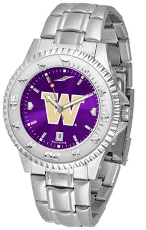 Linkswalker Mens Washington Huskies Competitor Steel Anochrome Watch