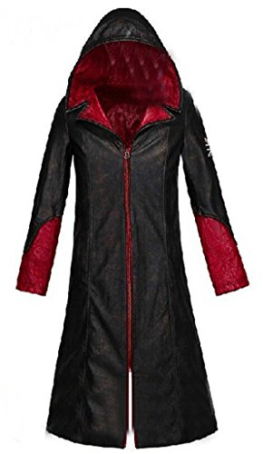 Devil May Cry 3 Costumes (HOLRAN Devil May Cry 5 DMC Dante Men's Leather Coat Jacket Cosplay Costumes (X-Large))