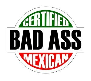 Amazoncom Certified Bad Ass Mexican Funny Hard Hat Helmet - Badass vinyl decal stickers