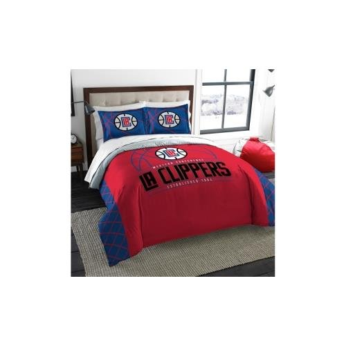 NBA Los Angeles Clippers Reverse Slam Two Sham Set, Red, Full/Queen
