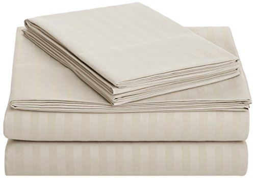 AmazonBasics Deluxe Microfiber Striped Sheet