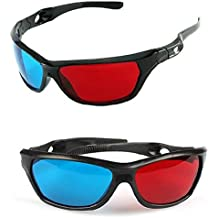 Red-blue / Cyan Anaglyph Simple Style 3d Glasses 3d Movie Game-extra Upgrade Style (2Pcs With Different Style)
