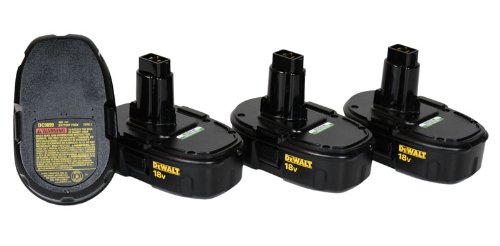 Four DeWalt DC9099 18-Volt Ni-Cd Low-Profile Battery Brand New