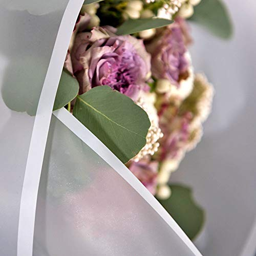 Frosted Flower Wrapping Paper White Lines Gift Packaging Florist Bouquet Supplies 20 Counts White