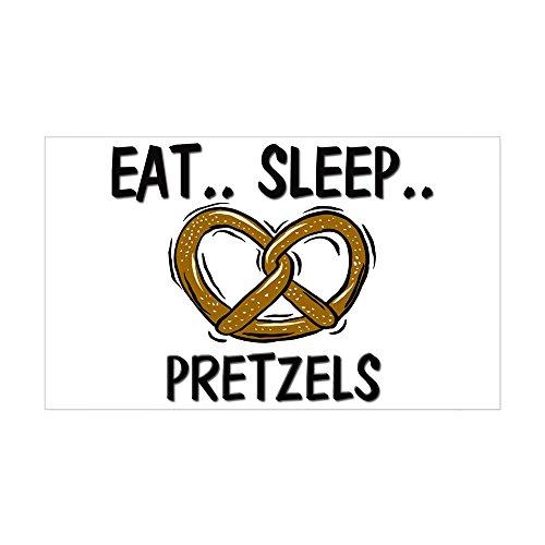 CafePress Eat Sleep Pretzels Rectangle Sticker Rectangle Bumper Sticker Car Decal