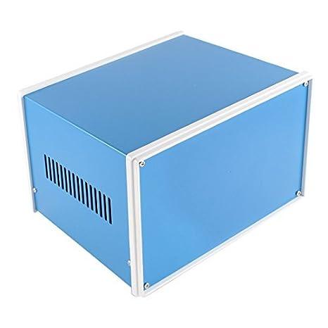 Azul do metal Junção Projeto Gabinete Caso Box 200 x 180 x 135 milímetros