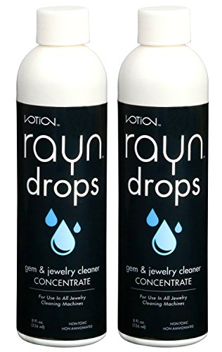 Rayn Drop Ultrasonic Liquid Jewelry Cleaning Solution Concentrate (2 Pack) Blitz Gem And Jewelry Cleaner