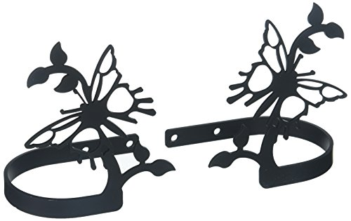 Back Tie Butterfly Curtain - Village Wrought Iron 4.63 Inch Butterfly Curtain Tie Backs