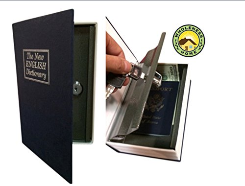 WHOLENESS HOME Steel Dictionary Book Diversion Safe with Lock- The Most Realistic Looking Books Safe - Stash your Valuables in Plain Sight! Weed Out Thieves! Perfect for Homes, Boats, RV's