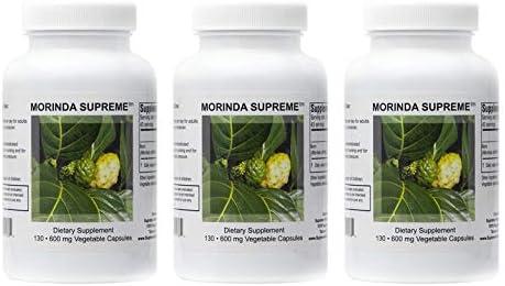 Supreme Nutrition Morinda Supreme Three Pack   Whole Noni Fruit 730 mg Veg Capsules   2190 mg per Serving