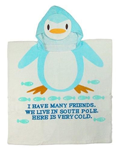 DAS ORIGINAL BOMIO® Badeponcho aus hautfreundlichem Frottee (Pinguin) 0-5 Jahre