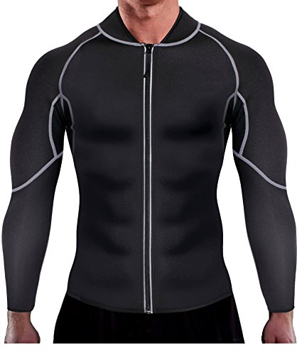 Thermal Mens Shirt Only (Ursexyly Men Exercise Sweat Hot Dress Shirt, Sauna Suit Neoprene Slimming Fitness Jacket Gym Wear for Core Muscle Training (Black Exercise Shirt, 4XL))