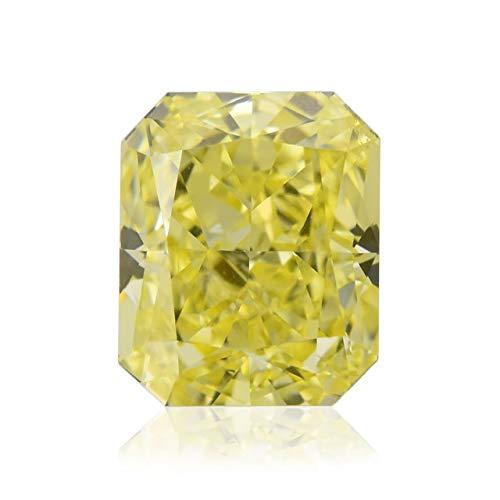 0.60 Carat Fancy Intense Yellow Loose Diamond Natural Color Radiant Cut GIA Cert