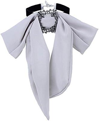 Hunpta - Collar y colgante imitación corbata, collar de lujo, gris ...