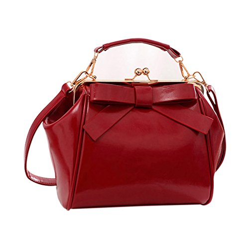 Shoulder leather for Party Handbag PU Dating Bag Shopping Taro Women's Wine Zhaoke red Work tgZqwIq