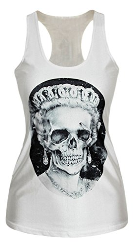erdbeerloft - Damen Skull Queen Mum Print Tank Top Shirt, Größe S-L S-M, Mehrfarbig