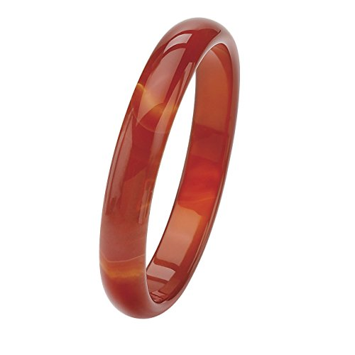 Genuine Red Agate Bangle Bracelet (13mm), 8 inches