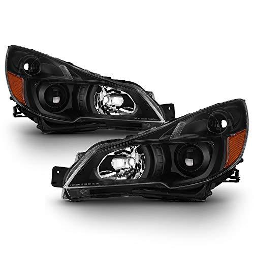 (ACANII - For 2010-2014 Subaru Legacy Outback Black Projector Headlights Headlamps Head Light Lamp Driver+Passenger Side)