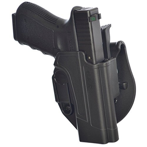 GKRT ORPAZ Polymer Thumb Release Holster 360 Rotation Paddle & Belt for Glock 17,19,22,23,25,26,31,32,34,35 by Orpaz 1