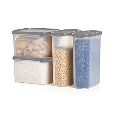 Tupperware Modular Mates Airtight Food Storage Container in Limited Edition Grey - 4 Piece Pasta Center