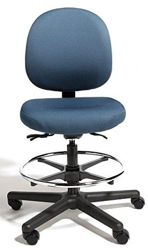 Cramer - TRMH4-2RI-2 - Blue Polyurethane Intensive 24/7 Task Chair 15 Back Height, Arm Style: No Arm
