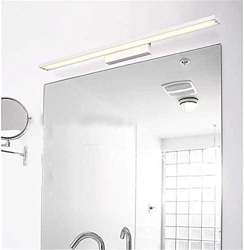 HIZLJJ スイッチとLEDバニティライトバスルームライトメイクアップウォールライトミラーライトピクチャーフロントランプ (Color : White, Size : Warm light)