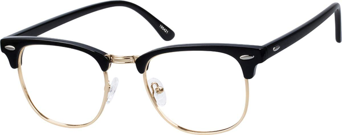 Zenni Optical Blokz Blue Light Blocking Computer Glasses Retro Browline Black Tortoiseshell Frame 195421