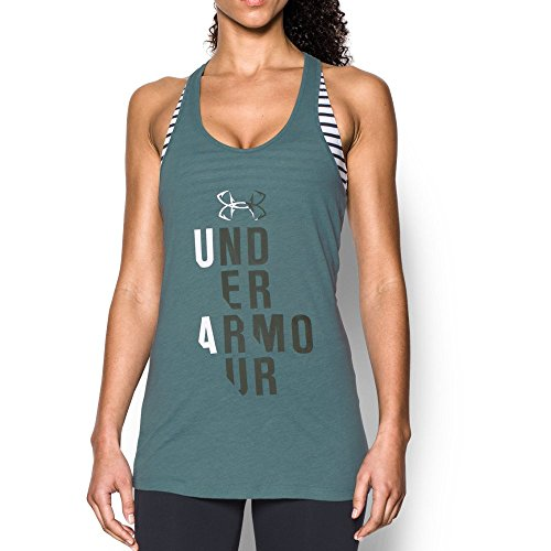 Under Armour Women's UA Fish Hook Tank Top, Fresco Green (177)/Downtown Green, Large