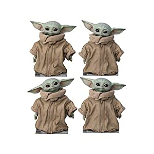 Advanced Graphics The Child (Set of 4) Life Size Cardboard Cutout Standup – Disney's Star Wars: The Mandalorian