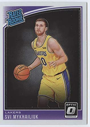 aece1a4d4b2 2018-19 Donruss Optic Basketball  193 Svi Mykhailiuk RC Rookie Card Los  Angeles Lakers