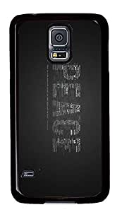Samsung Galaxy S5 custom made cover Peace Quotes PC Black Custom Samsung Galaxy S5 Case Cover